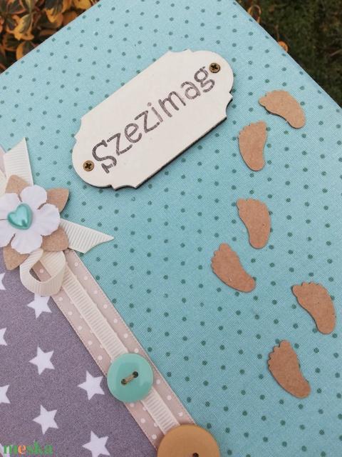 Feliratos, lefűzős kapcsos mappa, pasztell színekkel. :-) - Meska.hu