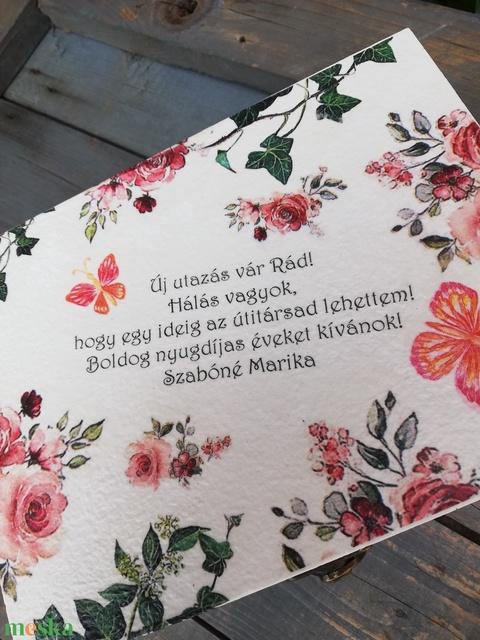 Egyedi feliratos díszdoboz, nyugdíjba vonulásra. - RENDELHETŐ - Meska.hu