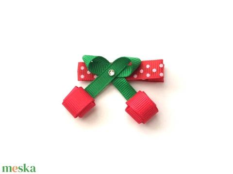 Piros cseresznye hajcsat (RibbonLove) - Meska.hu