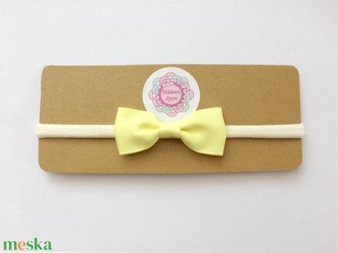 Sárga masnis puha rugalmas fejpánt fotózásra, esküvőre (RibbonLove) - Meska.hu
