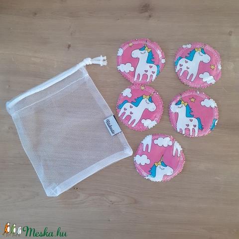 Arctisztító korong, mosható kozmetikai korong párna - szett (5 db), unikornis (ritakreativ) - Meska.hu
