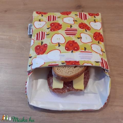 Uzsonnástasak, vízhatlan szendvics csomagoló - alma - snackbag, újratasak, vízálló tok, betéttartó - Meska.hu