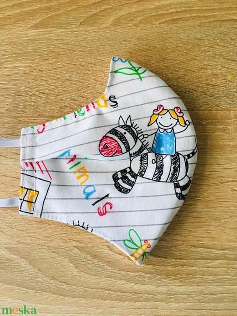 Gyerek rajzok  /arcmaszk - gyerek méret  - Meska.hu