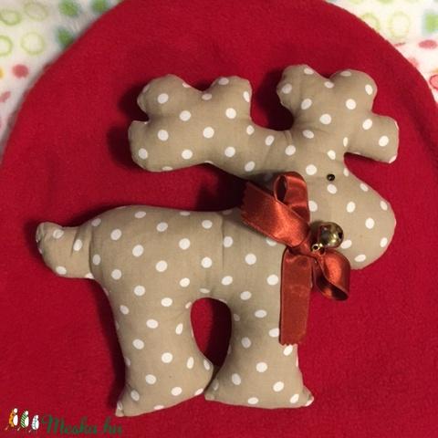 Karácsony júliusban - Rénszarvas kis csengővel - karácsony & mikulás - Meska.hu