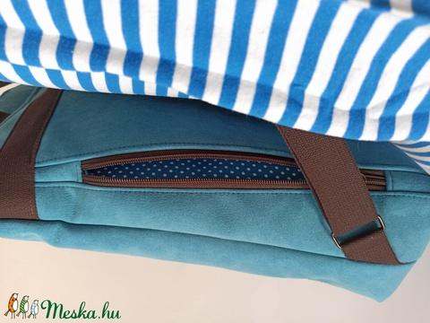 Minimalista - VÍZÁLLÓ, kék hátizsák (rozizu) - Meska.hu