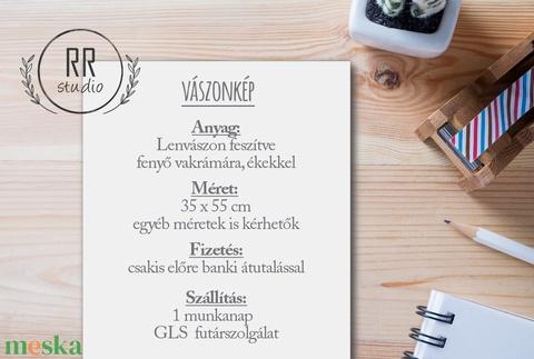 Esküvői Ujjlenyomatfa, Feszített vászon, kép, Falikép, fa, madár, esküvői dekoráció, modern vendégkönyv, állatos (RRstudio) - Meska.hu