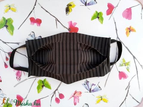 5 db fekete csíkos szájmaszk, többrétegű, mosható, pamut - Maszk férfiaknak (Ruciwebshop) - Meska.hu
