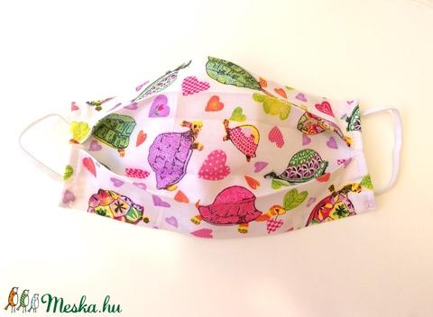 1 db Teknősös maszk - mosható dupla rétegű maszk - teknősös mintás maszk - maszk hölgyeknek (Ruciwebshop) - Meska.hu