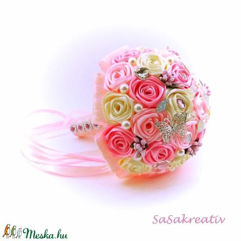 'SATIN RIBBON ROSES' csokor KICSI (sasakreativ) - Meska.hu
