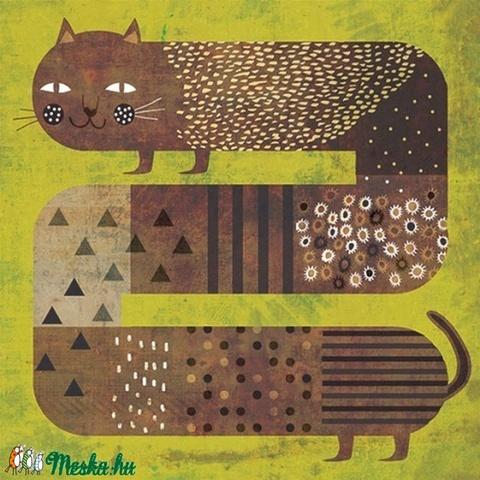 Macska és a fű - illusztráció (schalleszter) - Meska.hu