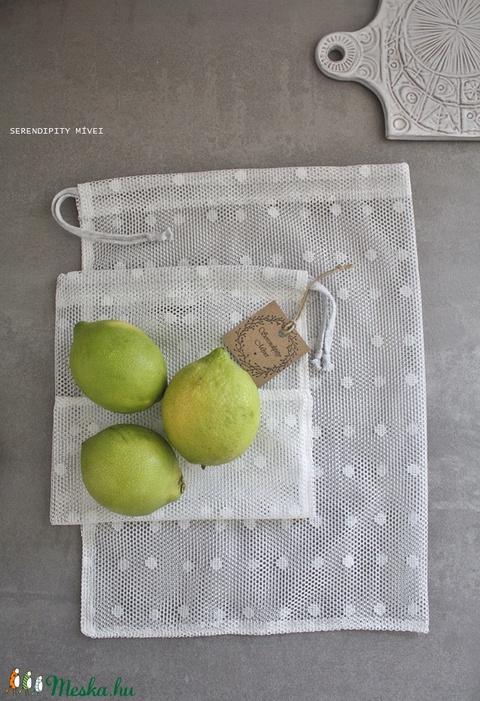 Öko szütyő szett (2db-os)- pöttyös (serendipity22) - Meska.hu