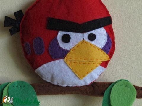 Angry birds_piros madár névtábla (Shalli85) - Meska.hu