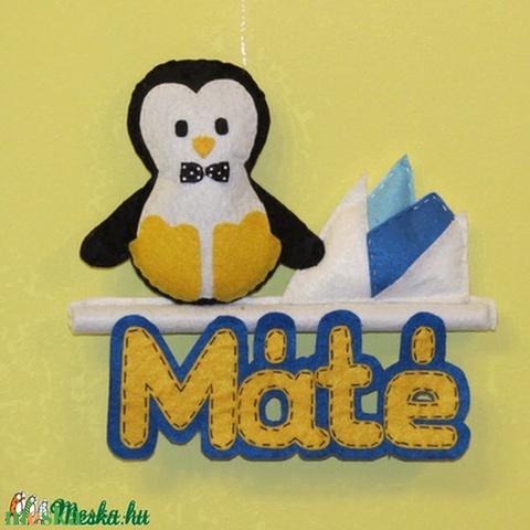 Pingvin névtábla - Meska.hu