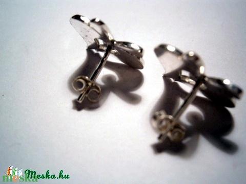 Népi motívumos füli(3) ezüstből (silverpig) - Meska.hu