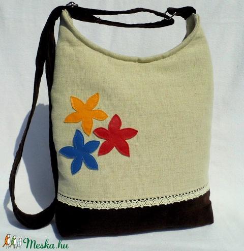 Női táska színes virágokkal - Meska.hu