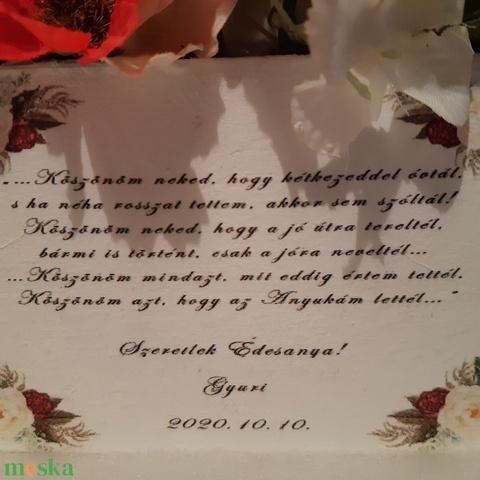 Bórdó és piros virágbox (solba66) - Meska.hu