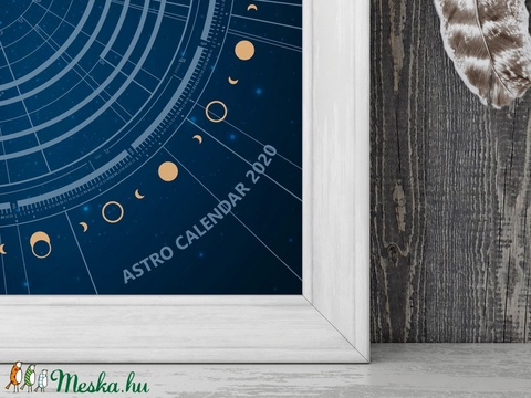 NYOMTATHATÓ - Asztro Kalendárium 2020. / AC016BLUE-IP (Solmate) - Meska.hu