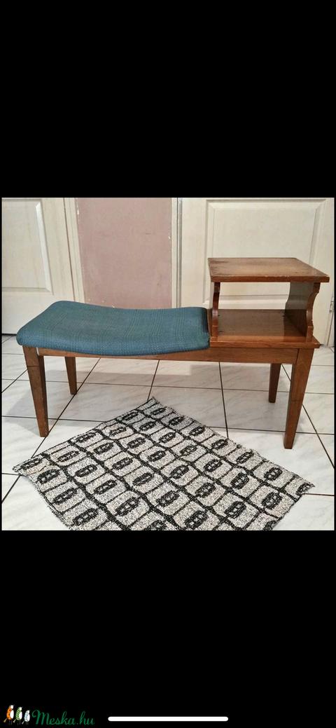 Régi telefonasztalka, pad, ülőke, előszoba szék (Sophita) - Meska.hu
