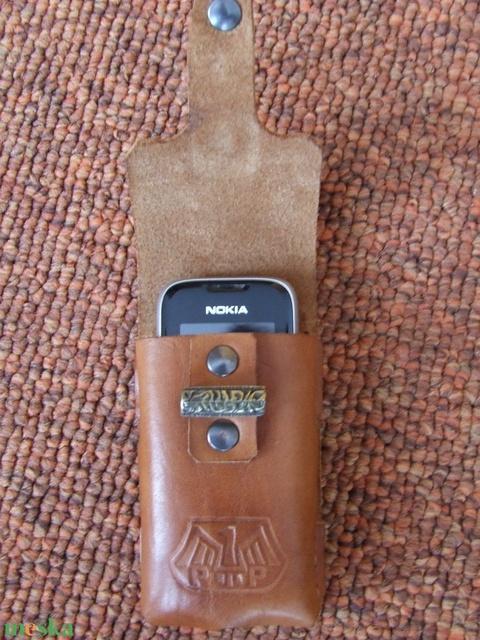 Veretes mobiltelefon tartó - Meska.hu