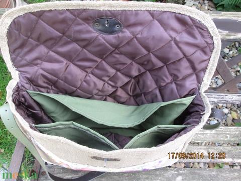 Egy újabb kalocsai hímzése betéttel díszített pakolos táska,laptop táska - Meska.hu