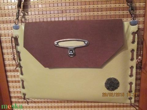 SpaltiDizájn táska5 Sokminden belefér táska sárga-barna változatban - Meska.hu