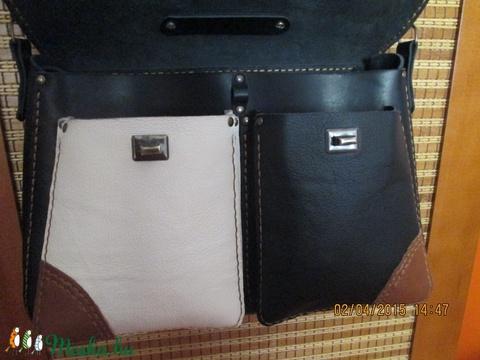 Háromszínű díszes pakolós táska és akár laptoptáska is lehet - Meska.hu