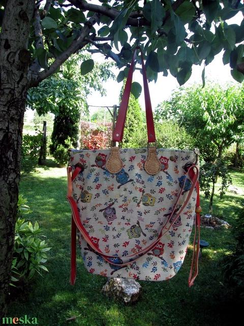 Variálható baglyos  táska gobilenszövetből  - Meska.hu