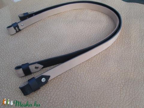 O bag hosszú fül mindkét oldalán használható, bézs-fekete - Meska.hu