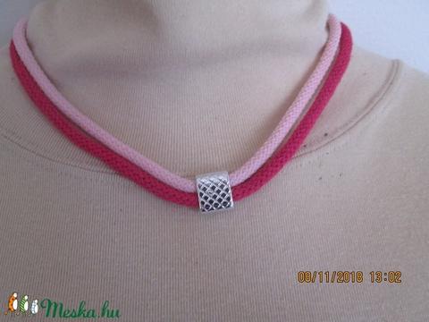 AKCIÓ!!Ékszerszett sodrott zsínórból,rózsaszín-pink színben - Meska.hu