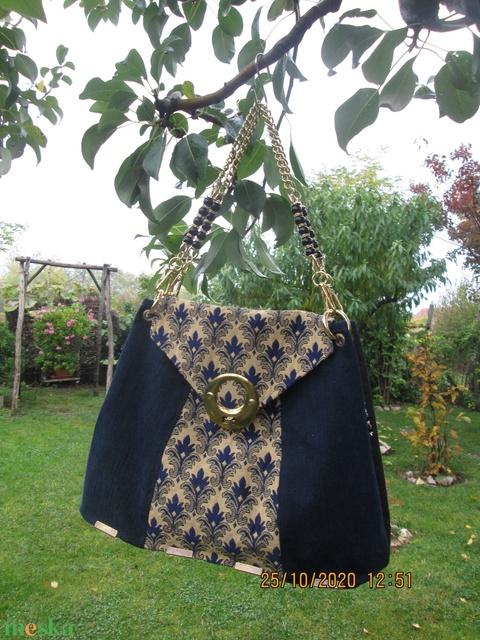 Romantikus női táska,részben újrahasznosított anyagból - Meska.hu
