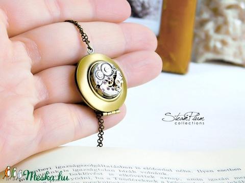 Miss Dorothy Dickson -nyaklánc bronz színű nyitható medállal (SteamPlum) - Meska.hu