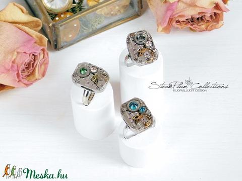 Miss Elza Withlock - gyűrű swarovski kövekkel díszítve - Meska.hu