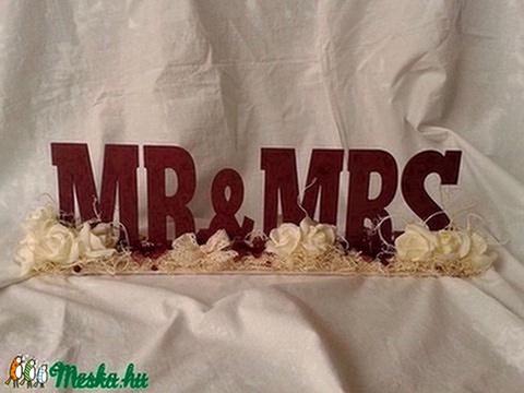 Vintage esküvői asztaldísz - Meska.hu