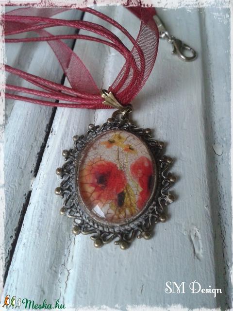 Vintage  virágos medál - Meska.hu