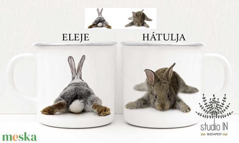 Bádog bögre, nyuszis bögre, húsvéti bögre, nyuszi bögre, születésnapi ajándék bögre (Studioin) - Meska.hu