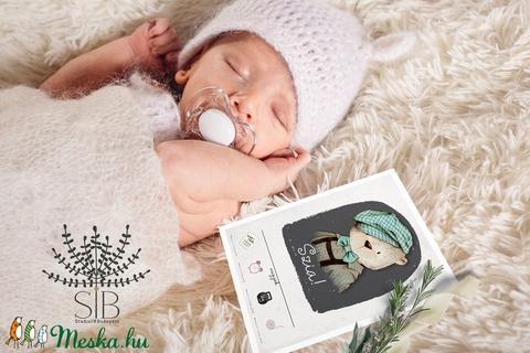 Baba fotó kártya, Mérföldkő kártya fiúknak, baba hónap kártya, állatos mérföldkő kártya, babakártya, erdei állatos (Studioin) - Meska.hu