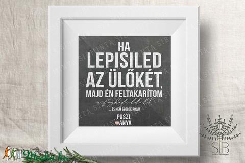 Vicces fürdőszobai fali dekoráció, humoros mosdó dekoráció, krétatábla hatású nyomtatott dekoráció (Studioin) - Meska.hu