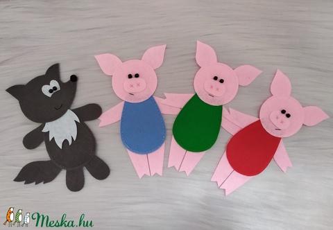 Három kismalac és a farkas (ujjbáb) (sudarnekriszti) - Meska.hu