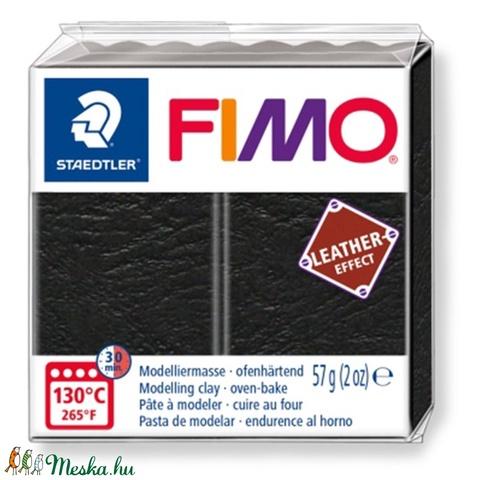 Fimo effect bőr fekete  57 - Meska.hu