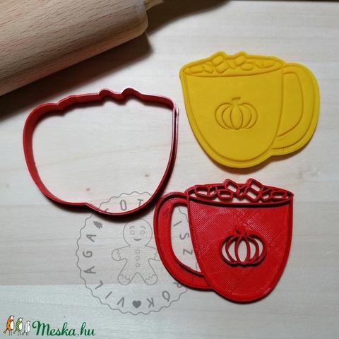 Tökös bögre pillecukorral - süteménykiszúró forma, sütipecsét. Linzer, mézeskalács, keksz kiszúró (Sutikiszurokvilaga) - Meska.hu