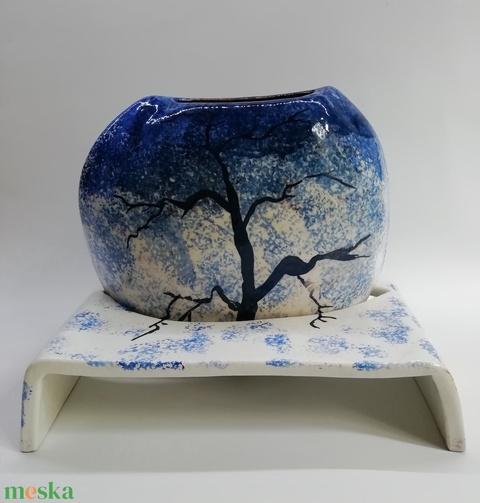 Magányos fa télen - váza - Meska.hu