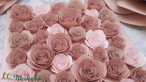 Minnie virágkeret, dekorkeret, gyerekszoba dekoráció, babaváró ajándék, papírvirág box (SzHellaDesign) - Meska.hu