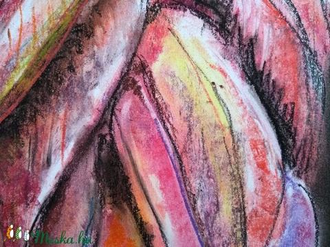 Flamingó - művészet - festmény - pasztell - Meska.hu