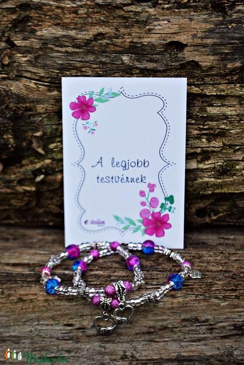 Anya- lánya karkötő szett- lila és kék (Szilvadekor) - Meska.hu