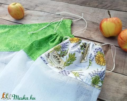 Ökozsák szett- zöld és levendulás (Szilvadekor) - Meska.hu