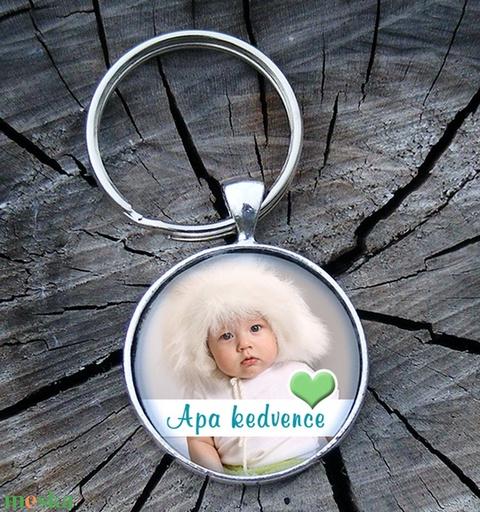 Egyedi- saját fotóval- üveglencsés fém kulcstartó - Meska.hu