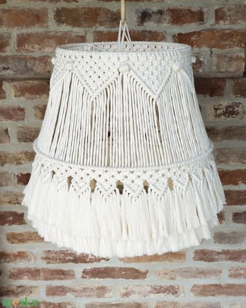 Makramé lámpa (csillár) - Meska.hu