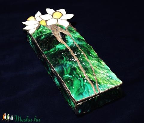 Tavaszi nárciszpár tiffany dobozka - Meska.hu