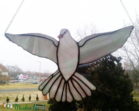 2 db Fehér galamb ablakdísz - Meska.hu