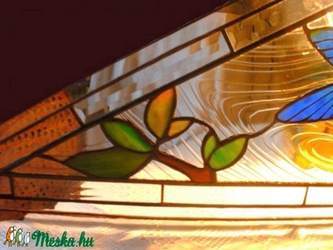 Kolibris ablakbetét tiffanyból - Meska.hu